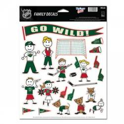 Minnesota Wild - 8.5x11 Family Sticker Sheet 994ef2c1fa74