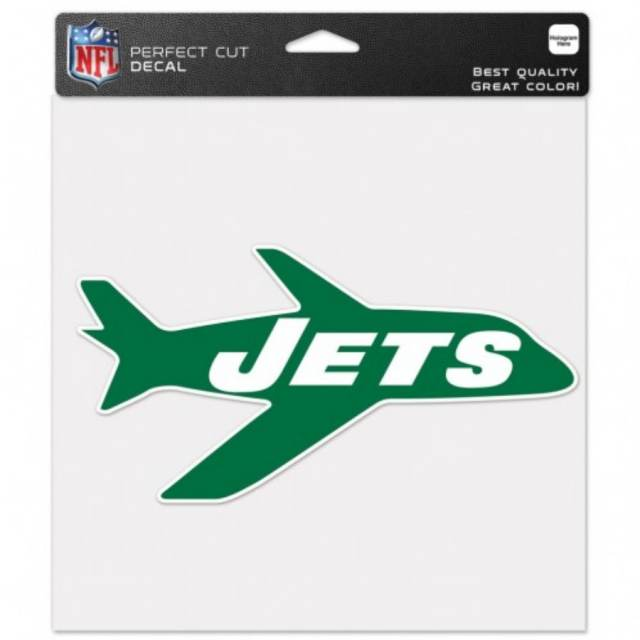 New York Jets Retro Logo 8x8 Full Color Die Cut Decal At Sticker Shoppe