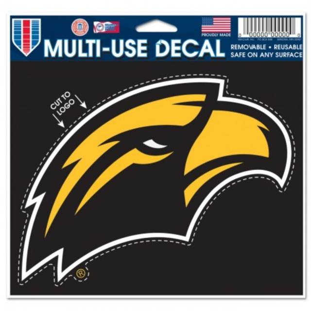 Two - 4x4 Decals Wincraft Southern Mississippi Golden Eagles 4x8 Die Cut Decal