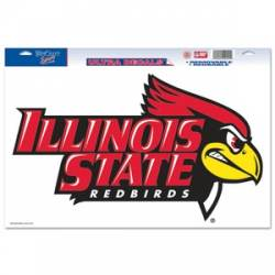Illinois State Redbirds Auto Badge Decal Hard Thick Plastic