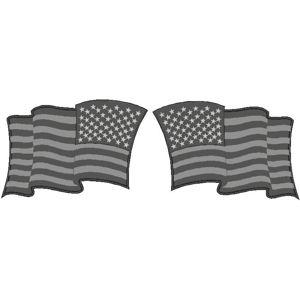1c8c4637b311 Subdued Standard   Reverse Wavy American Flag - Helmet Decal Set Item   827-2183
