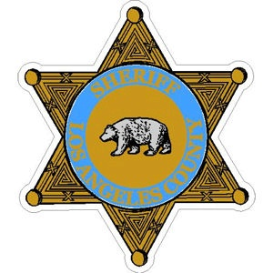 Los Angeles County Sheriff Badge Vinyl Sticker At