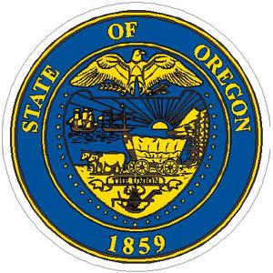 Oregon State Seal Vinyl Sticker At Sticker Shoppe