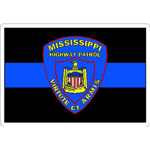 Thin Blue Line Mississippi Highway Patrol Vinyl Sticker