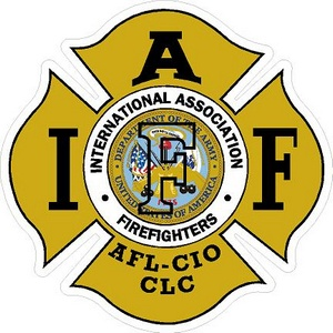 Army IAFF International Association Firefighters - Vinyl Sticker