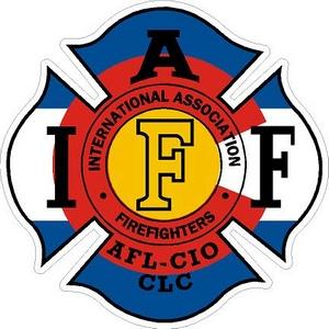 Colorado IAFF International Association Firefighters - Vinyl Sticker
