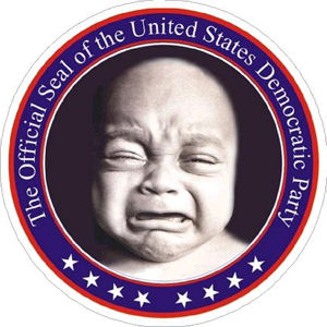 Cry Baby The Official Seal Of The Democratic Party - Sticker at Sticker  Shoppe