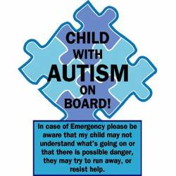 Teen With Autism On Board Sticker Decals