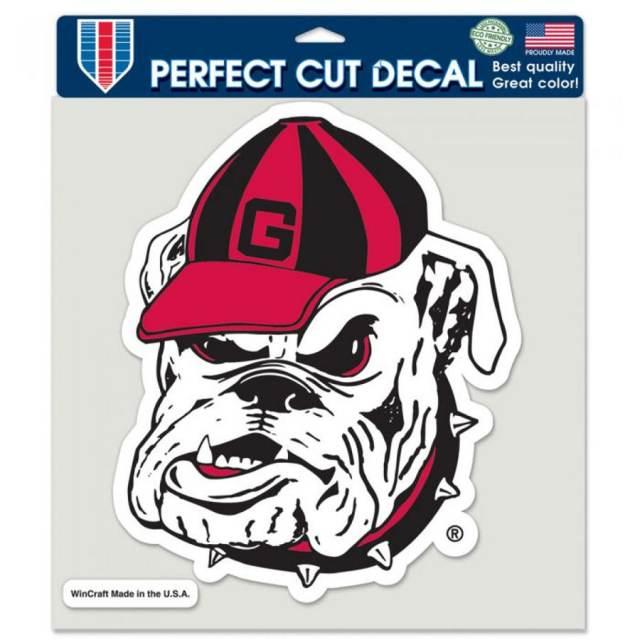 WinCraft NCAA University of Georgia Bulldogs 8 x 8 Perfect Cut White Decal