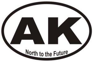 North To Future Alaska - Sticker
