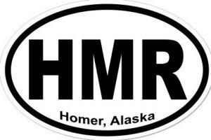 Homer Alaska - Sticker