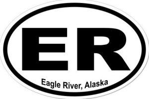 Eagle River Alaska - Sticker