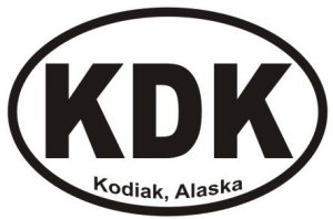 Kodiak Alaska - Sticker