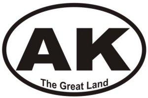 Great Land Alaska - Sticker