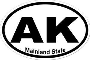 Mainland State Alaska - Sticker