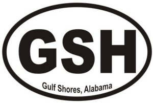 Gulf Shores Alabama - Sticker