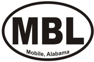 Mobile Alabama - Sticker