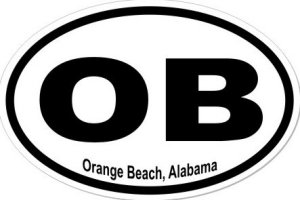 Orange Beach Alabama - Sticker