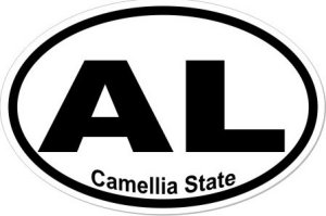 Camellia State Alabama - Sticker