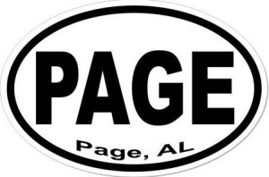 Page Alabama - Sticker