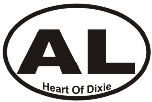 Heart of Dixie Alabama - Sticker