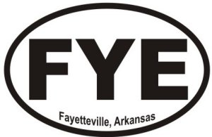 Fayetteville Arkansas - Sticker