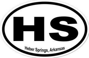 Heber Springs Arkansas - Sticker