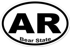 Bear State Arkansas - Sticker
