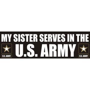 Sister Serves Army - Sticker