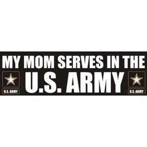 Mom Serves Army - Sticker
