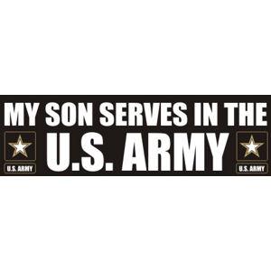 Son Serves Army - Sticker