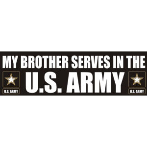 Brother Serves Army - Sticker