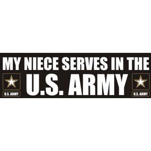 Niece Serves Army - Sticker