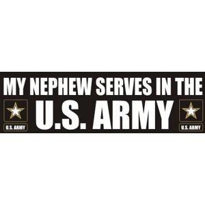 Nephew Serves Army - Sticker