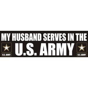 Husband Serves Army - Sticker