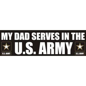 Dad Serves Army - Sticker