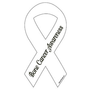 Bone Cancer Awareness - Ribbon Magnet