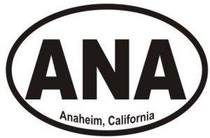 Anaheim California  - Sticker