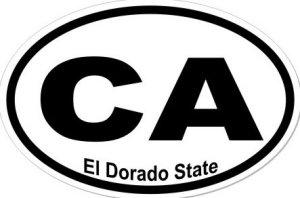 El Dorado State California  - Sticker