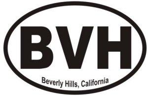 Beverly Hills California  - Sticker