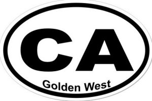 Golden West California  - Sticker