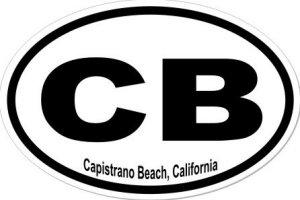 Capistrano Beach California  - Sticker