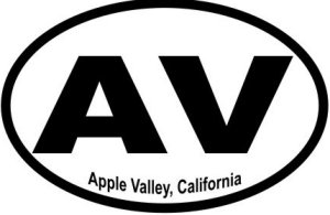 Apple Valley California  - Sticker