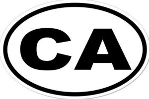 CA California  - Sticker