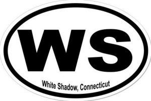 White Shadow Connecticut - Sticker
