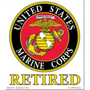 United States Marine Corps Retired - Clear Window Decal at Sticker