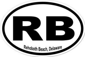 Rehoboth Beach Delaware - Sticker