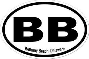 Bethany Beach Delaware - Sticker