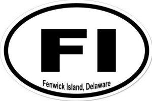 Fenwick Island Delaware - Sticker