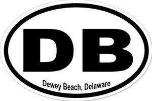 Dewey Beach Delaware - Sticker